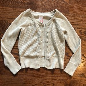 EUC! Gold shimmer button up sweater